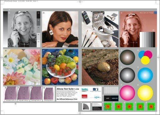 foglio verifica colorimetria stampa
