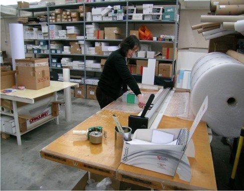 reparto spedizione stampati