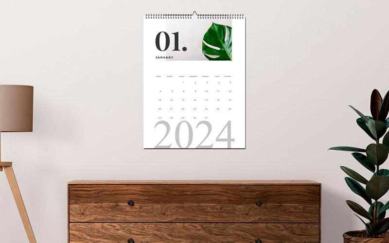 Stampa calendari online personalizzati a parete da tavolo con asta metallica trittici tascabili - Calendari da tavolo personalizzati ...