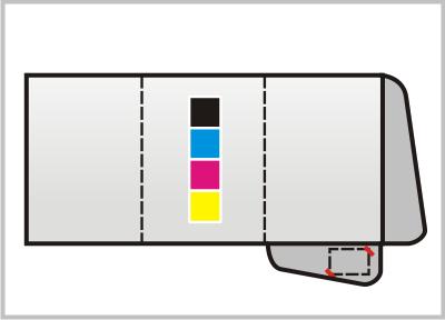cartelline porta documenti con tre bandelle stampa un lato